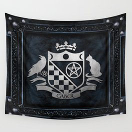 Cabot Silver Embossed Collection Wall Tapestry