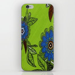 floral four iPhone Skin