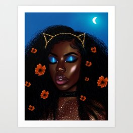 Pretty Brown Lady Art Print