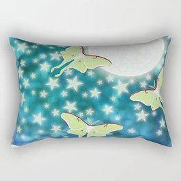 the moon, stars, luna moths, & dandelions Rectangular Pillow