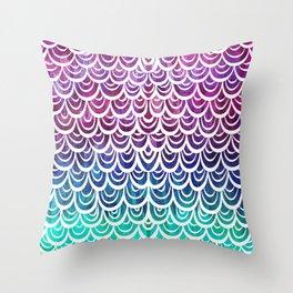 Watercolor Mermaid Alexandrite Throw Pillow
