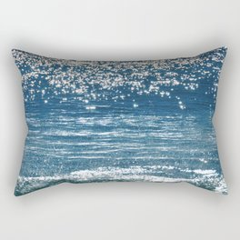Blue Sea Sparkle Rectangular Pillow