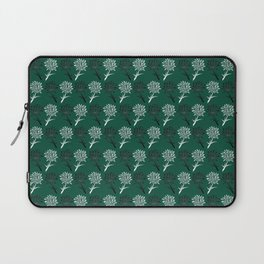 Green and White Dandelion Pattern Laptop Sleeve