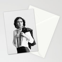Frida Kahlo Wearing White Shirt Stationery Cards