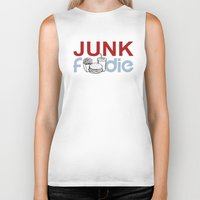 junk food Biker Tanks featuring I HEART Junk Food by HemantS