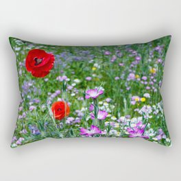 Wild Flower Meadow Rectangular Pillow