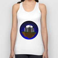 castle in the sky Tank Tops featuring Castle in the Sky by AjDreamCraft