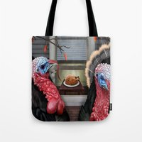 thanksgiving Tote Bags featuring Thanksgiving by Stevie Ray Thompson