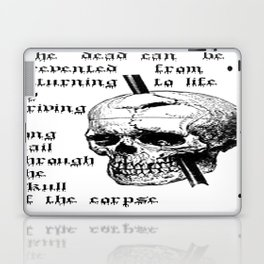 Driving A Long Nail Through The Skull Of A Corpse  Laptop & iPad Skin