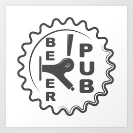 Beer Pub Brewery Handcrafted style Fashion Modern Design Print! Art Print