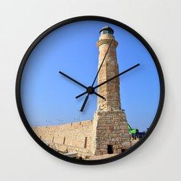 Rethymno lighthouse landmark Wall Clock