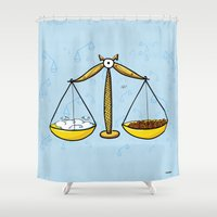 libra Shower Curtains featuring Libra by Giuseppe Lentini