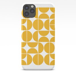 Mid Century Modern Geometric 04 Yellow iPhone Case