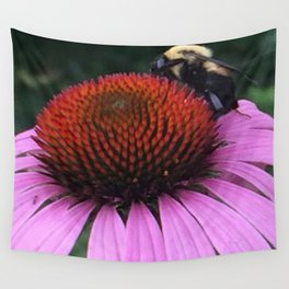 Bee on Flower by Saribelle Rodriguez Wall Tapestry
