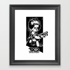 shotgun b/w Framed Art Print