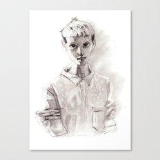 Girl Short Hair and  Shirt Canvas Print