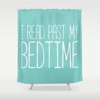 read Shower Curtains featuring I read past my bedtime. by bookwormboutique