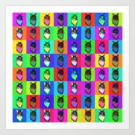 The Chess Sire Cat Art Print