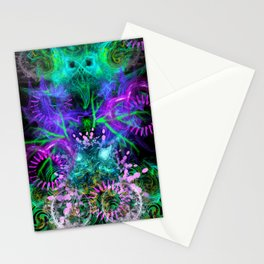 Moonlight Nausea, Starlight Vertigo (abstract, psychedelic, trippy) Stationery Cards