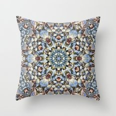 Seashell Kaleidoscope Throw Pillow