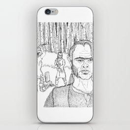 Hermit and sons among the birch trees iPhone Skin