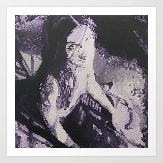Purple Ling Art Print