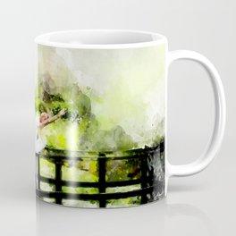 Ballerina on a bridge Coffee Mug