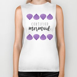 Certified Mermaid Biker Tank