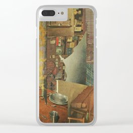 Haunted House Clear iPhone Case