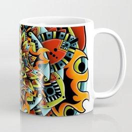 Flame Flower Mandala Coffee Mug