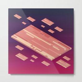 A Fleet of Baconships Flying Through Baconspace Metal Print