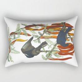 Fish crow John James Audubon Vintage Scientific Bird Illustration Rectangular Pillow