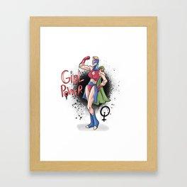 Girl power Framed Art Print