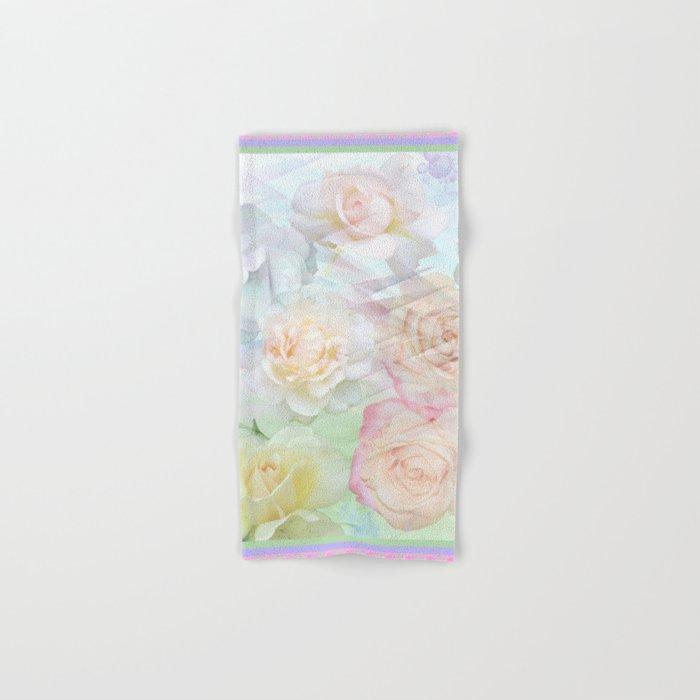 Romantic roses in pastels Hand & Bath Towel