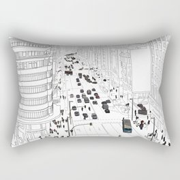 Gran Vía, Madrid Rectangular Pillow