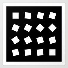 B/W square rotation Art Print