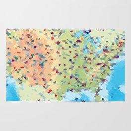 USA America Geometric Abstract Rug
