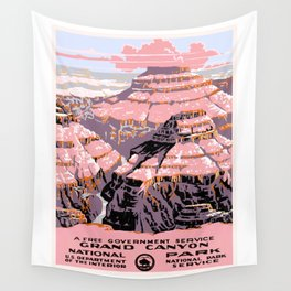 1938 Grand Canyon National Park Travel Poster Wall Tapestry