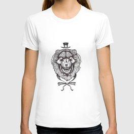 gentleman lion skull T-shirt