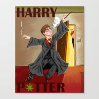 harry potter Canvas Prints featuring Harry POTter by Eric Holopainen