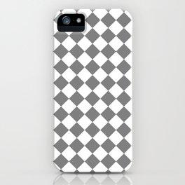 Diamonds - White and Gray iPhone Case