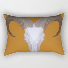 Low Poly Aoudad Skull Rectangular Pillow