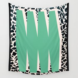 Green, Abstract print poster Wall Tapestry