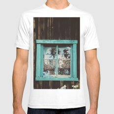 Paradise White Mens Fitted Tee MEDIUM