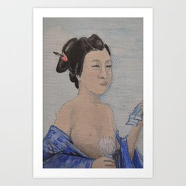 Beauty is in the Eye (Geisha detail) Art Print