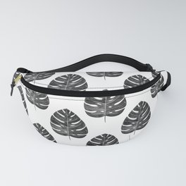 Monstera Leaf | Black and White Fanny Pack