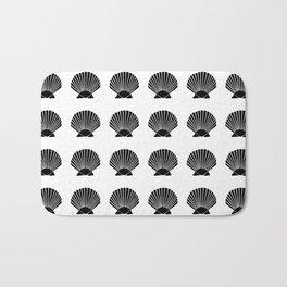 Black Seashell Bath Mat