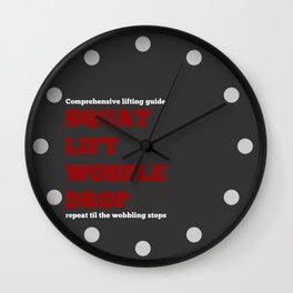 Squats Wall Clock