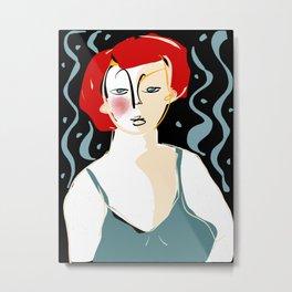 Girl in the moonlight Metal Print