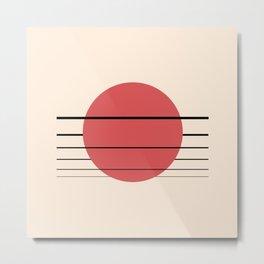 Private Moon - Red Metal Print